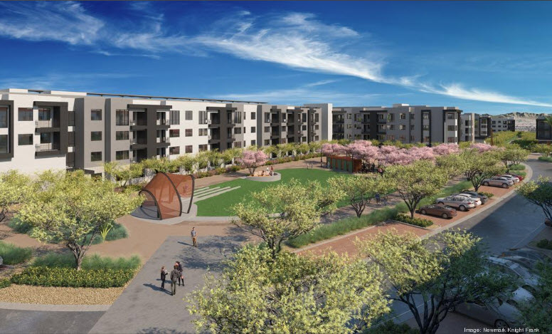 Artist rendering of Scottsdale Entrada apartment portion.