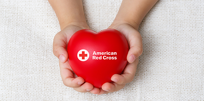 American Red Cross - hands holding heart